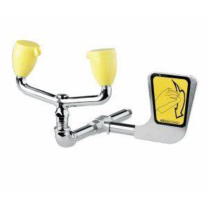 Speakman SE 575 Polished Chrome & yellow Universal Laboratory Eyewash & Eye/Face