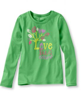 Girls Lightweight Jersey Graphic Tee, Tree Girls