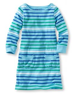 Girls Unshrinkable Dress, Stripe Girls