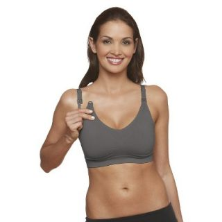 Basics Womens Stella Maternity & Nursing Bra 1450   Dark Gray L