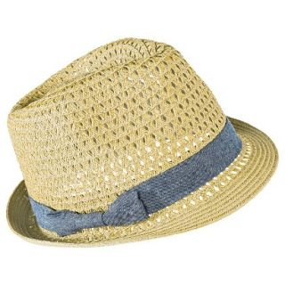 Mossimo Supply Co. Fedora Hat with Denim Bow Sash   Light Brown