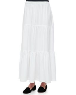 Tiered Long Skirt, Womens   Joan Vass
