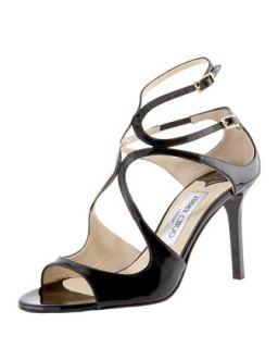 Ivette Patent Sandal   Jimmy Choo   Black (37.5B/7.5B)