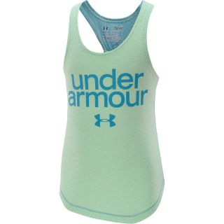UNDER ARMOUR Girls Qualifier Tri Blend Tank Top   Size: XS/Extra Small, Aloe