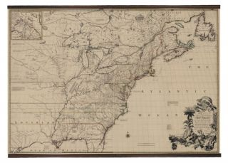 Authentic Models 1755 North America Map Scroll