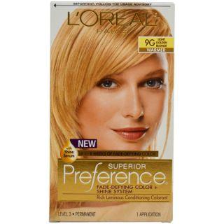 Oreal Paris Superior Preference 9G Light Golden Blonde Hair Color (1