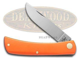 CASE XX Smooth Orange Delrin Sod Buster Jr Stainless Pocket Knife Knives