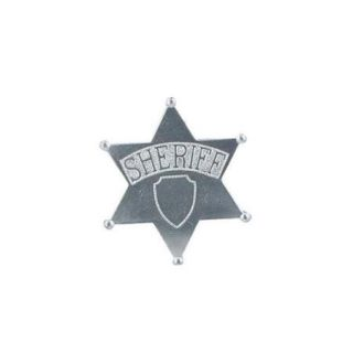 Silver Jumbo Sheriff's Badge