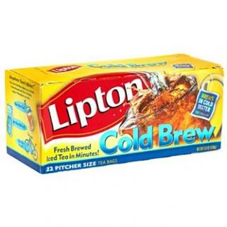Lipton Cold Brew Iced Tea, Pitcher Size, 22 tea bags   Food & Grocery