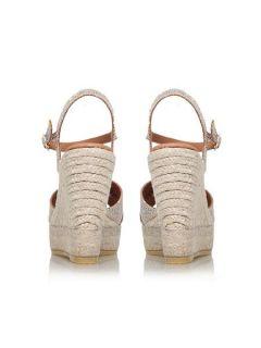 Kurt Geiger Amerie high wedge heel sandals Peach