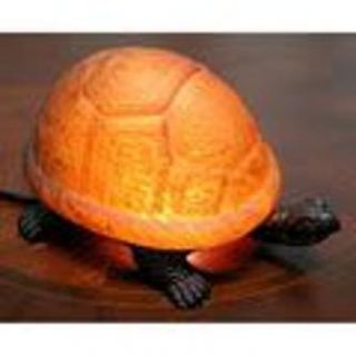 Warehouse of Tiffany Amber Turtle Accent Lamp   Home   Home Decor