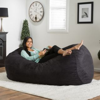 Christopher Knight Home Asher Faux Suede 6.5 foot Lounge Beanbag Chair