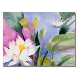 Trademark Fine Art 18 in. x 24 in. Lotus Pond Canvas Art SG0292 C1824GG