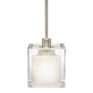 Stone 2.5 in Polished Nickel Mini Clear Glass Pendant