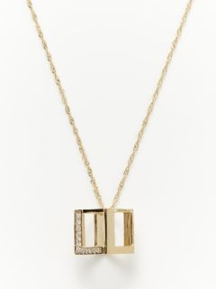 """L"" Monogram Cube Necklace by Daniela Swaebe"