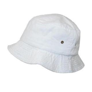 Sportsman Unisex Cotton Twill Summer Packable Travel Bucket Hat, White