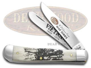 CASE XX War Series Vietnam Natural Bone Trapper Stainless Pocket Knife Knives
