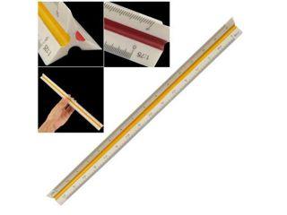 1:20 1:25 1:50 1:75 1:100 1:125 Plastic Triangular Scale Ruler Measurement