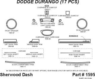 2004 2009 Dodge Durango Wood Dash Kits   Sherwood Innovations 1595 N50   Sherwood Innovations Dash Kits