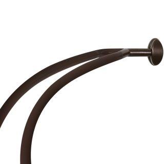 allen + roth 72 in Bronze Curved Adjustable Shower Rod