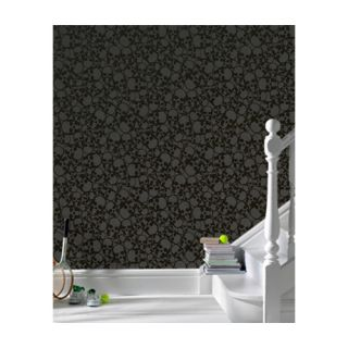 Barbara Hulanicki Flock Skulls Abstract Flocked Wallpaper by Graham