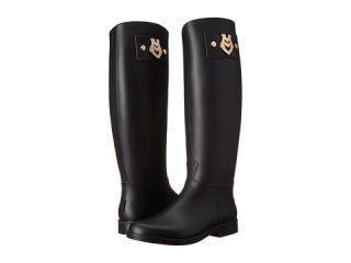 LOVE Moschino Rain Boot with Logo Plaqua Black
