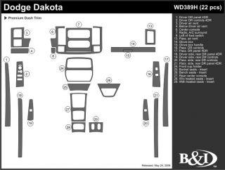 2001 2004 Dodge Dakota Wood Dash Kits   B&I WD389H DCF   B&I Dash Kits