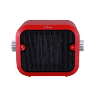 Hunter 1500 Watt Retro Ceramic Portable Heater with Adjustable Thermostat PC 003RD