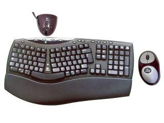 bd6b5ee272b ... Logitech Cordless Comfort Duo 967230 0403 Black 105 Normal Keys 12  Function Keys RF Wireless Ergonomic ...