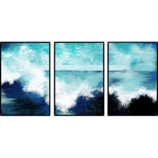 PTM Images Coast 3 Piece Gicl e Framed Painting Print Set