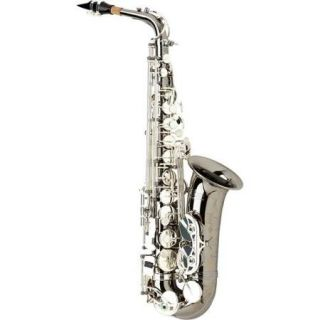 Allora Paris Series Professional Alto Saxophone AAAS 805   Black Nickel Body   Silver Plated Keys