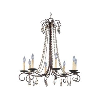 Metal 8 light Other Adriana Single Tier Chandelier