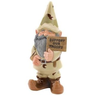 Malibu Creations Support Our Troops Gnome Statue 08102097