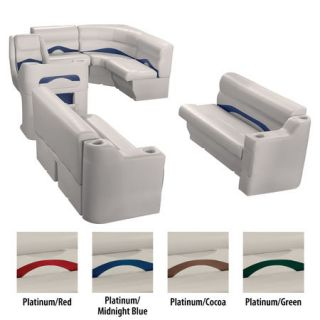 Toonmate Premium Pontoon Furniture Rear Entry Wraparound Package Platinum