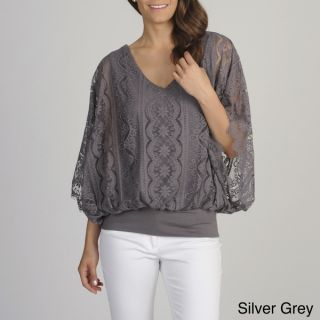 Chelsea & Theodore Womens Lace Banded Hem Top  ™ Shopping