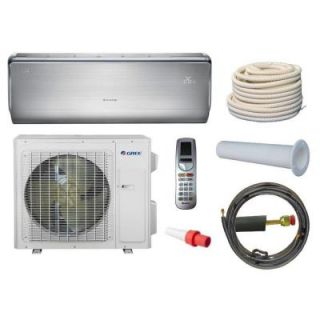GREE Crown 18,000 BTU 1 1/2 Ton Ductless Mini Split Air Conditioner and Heat Pump Kit   208 230V/60Hz CROWN18HP230VKIT