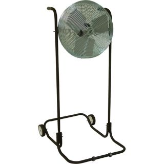 TPI Industrial High-Stand Workstation Floor Fan — 24in., 1/8 HP, 5850 CFM, Model# F-24H-TE  Floor Fans