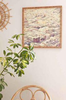 Shannon Clark For DENY San Fran Roof Tops Framed Wall Art