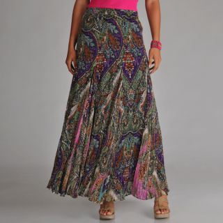 Chelsea & Theodore Womens Paisley Maxi Skirt   Shopping