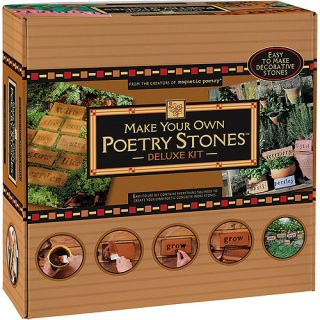 Magnetic Poetry Make Your Own Poetry Stones Deluxe Kit