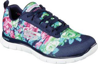 Womens Skechers Flex Appeal Training Sneaker   Wildflowers/Navy/Multi
