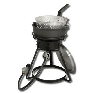 King Kooker 16 Bolt Together Outdoor Cooker with 6 Qt. Cast Iron Pot