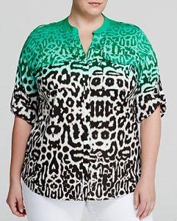 Calvin Klein Plus Ombre Animal Print Blouse