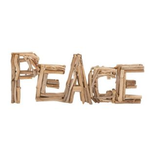 Woodland Imports Creative Styled Arty Driftwood ''Peace'' Letter Block Wall D cor