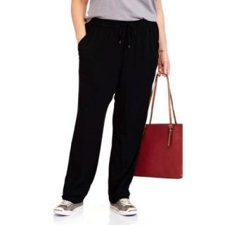Faded Glory Women's Plus Size Tapered Soft Pants