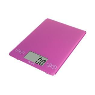 Escali Arti Glass Digital Scale, 15 Lb / 7 Kg, Poppin Pink   Home