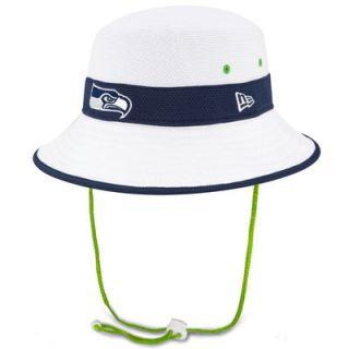 Seattle Seahawks New Era On Field Training Camp Bucket Hat   White