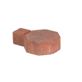Terracotta Charcoal Concrete Paver (Common: 6 in x 8 in; Actual: 6.1 in x 8.7 in)