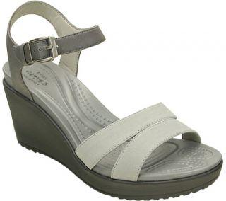 Womens Crocs Leigh II Ankle Strap Wedge Sandal