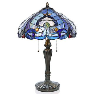 Beachcrest Home Nikki Shell 21.5 H Table Lamp with Empire Shade